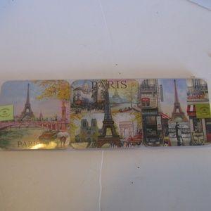 Set of 6 Paris coasters - waterproof - NWT.